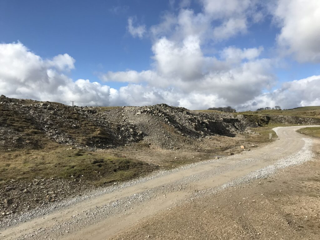 Spoil heaps from Beevor Mine