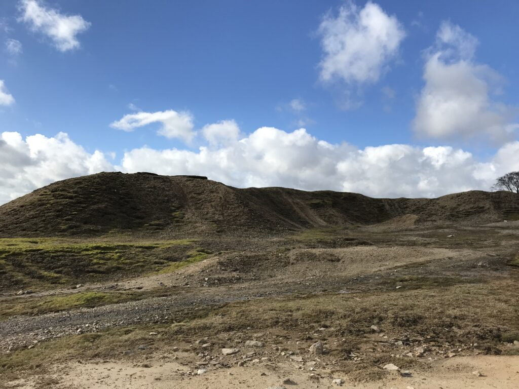 The spoil heaps from Bowdin's gin shaft