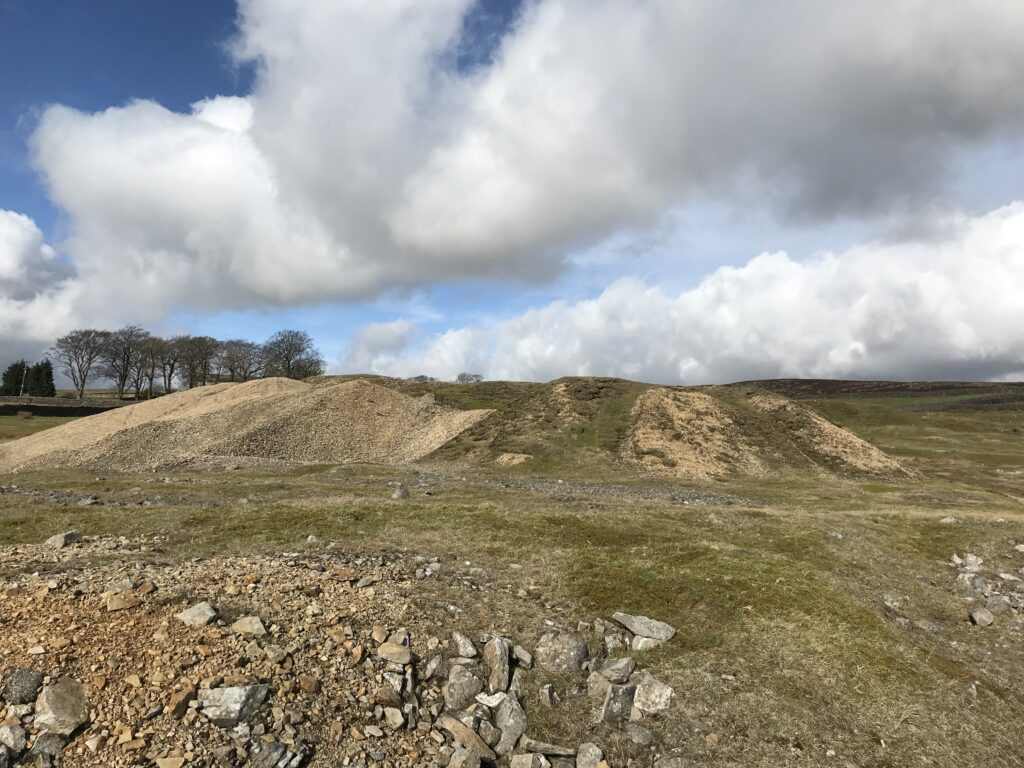 Another view of the spoil heaps